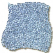 Technisches Detail: ACQUAMARINA Italienisches polierte, aquamarinblaues Glas