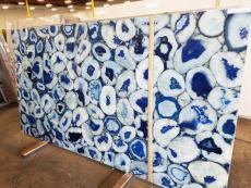 Lieferung polierte Unmaßplatten 2 cm aus Natur Halbedelstein AGATA BLUE GIANT AG-BLG18. Detail Bild Fotos