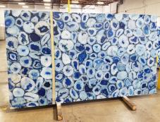 Lieferung polierte Unmaßplatten 2 cm aus Natur Halbedelstein AGATA BLUE AG-BL18. Detail Bild Fotos