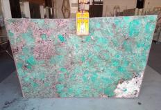 Lieferung polierte Unmaßplatten 2 cm aus Natur Halbedelstein AMAZZONITE Z0206. Detail Bild Fotos
