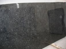 Lieferung polierte Unmaßplatten 2 cm aus Natur Granit ANGOLA BLACK SILVER CV_ASB25. Detail Bild Fotos