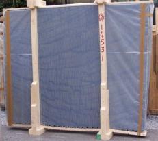 Lieferung polierte Unmaßplatten 2 cm aus Natur Marmor AZUL MAKAUBA E-14531. Detail Bild Fotos