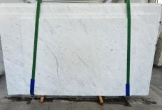 Lieferung polierte Unmaßplatten 3 cm aus Natur Marmor BIANCO CARRARA C 1441. Detail Bild Fotos