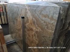 Lieferung polierte Unmaßplatten 2 cm aus Natur Onyx Black Cloud AA S0106. Detail Bild Fotos