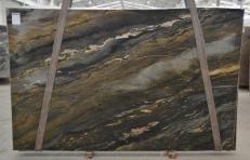 Lieferung polierte Unmaßplatten 3 cm aus Natur Quarzit BLUE SPIRIT BQ02268. Detail Bild Fotos