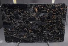 Lieferung polierte Unmaßplatten 3 cm aus Natur Marmor BRECCIA PORTORO 1064M. Detail Bild Fotos
