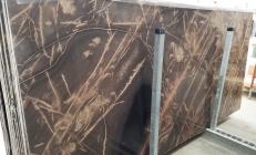 Lieferung polierte Unmaßplatten 2 cm aus Natur Kalkstein BRONZO VENATO 1529M. Detail Bild Fotos