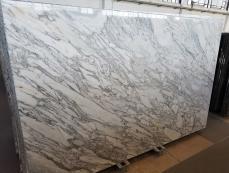Lieferung polierte Unmaßplatten 2 cm aus Natur Marmor CALACATTA ARNI Z0182. Detail Bild Fotos