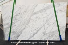 Lieferung polierte Unmaßplatten 3 cm aus Natur Marmor CALACATTA BELGIA 1146. Detail Bild Fotos