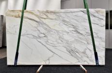 Lieferung polierte Unmaßplatten 2 cm aus Natur Marmor CALACATTA BORGHINI GL 1095. Detail Bild Fotos