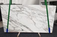 Lieferung polierte Unmaßplatten 2 cm aus Natur Marmor CALACATTA BORGHINI 1209. Detail Bild Fotos