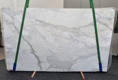 Lieferung polierte Unmaßplatten 2 cm aus Natur Marmor CALACATTA CARRARA 1435. Detail Bild Fotos