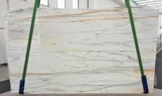 Lieferung polierte Unmaßplatten 2 cm aus Natur Marmor CALACATTA CREMO V 1120. Detail Bild Fotos