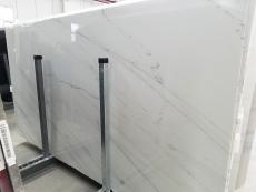 Lieferung polierte Unmaßplatten 2 cm aus Natur Marmor CALACATTA LINCOLN GOLD VEIN 1670M. Detail Bild Fotos