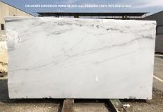 Lieferung polierte Unmaßplatten 2 cm aus Natur Marmor CALACATTA LINCOLN 1408M. Detail Bild Fotos