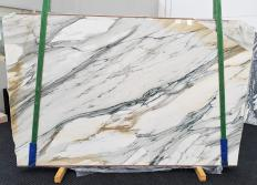 Lieferung polierte Unmaßplatten 2 cm aus Natur Marmor CALACATTA MAJESTIC 1413. Detail Bild Fotos