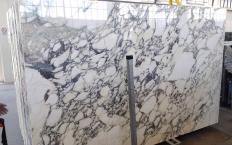 Lieferung polierte Unmaßplatten 2 cm aus Natur Marmor CALACATTA MONET Z0200. Detail Bild Fotos