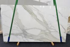 Lieferung polierte Unmaßplatten 2 cm aus Natur Marmor CALACATTA ORO EXTRA 1366. Detail Bild Fotos