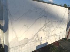 Lieferung polierte Unmaßplatten 2 cm aus Natur Marmor CALACATTA ORO EXTRA C-0412. Detail Bild Fotos