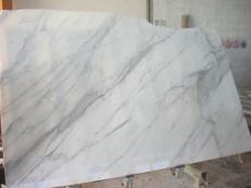 Lieferung polierte Unmaßplatten 2 cm aus Natur Marmor CALACATTA ORO EXTRA EM_0412. Detail Bild Fotos
