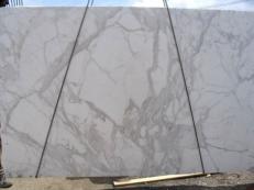 Lieferung polierte Unmaßplatten 3 cm aus Natur Marmor CALACATTA ORO EXTRA E-8001. Detail Bild Fotos