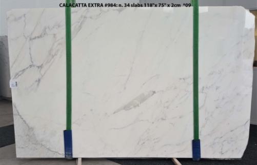 Lieferung polierte Unmaßplatten 2 cm aus Natur Marmor CALACATTA ORO EXTRA GL 984. Detail Bild Fotos