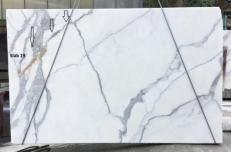 Lieferung polierte Unmaßplatten 2 cm aus Natur Marmor CALACATTA ORO EXTRA GL D190223. Detail Bild Fotos