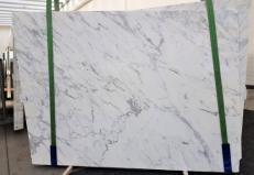 Lieferung polierte Unmaßplatten 2 cm aus Natur Marmor CALACATTA ORO EXTRA GL 1043. Detail Bild Fotos