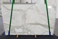 Lieferung polierte Unmaßplatten 2 cm aus Natur Marmor CALACATTA ORO 1238. Detail Bild Fotos