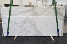 Lieferung polierte Unmaßplatten 2 cm aus Natur Marmor CALACATTA ORO 1244. Detail Bild Fotos