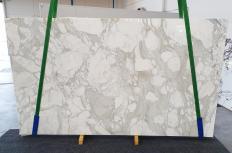 Lieferung polierte Unmaßplatten 3 cm aus Natur Marmor CALACATTA ORO 1274. Detail Bild Fotos