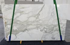 Lieferung polierte Unmaßplatten 2 cm aus Natur Marmor CALACATTA ORO 1227. Detail Bild Fotos