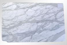 Lieferung geschliffene Unmaßplatten 2 cm aus Natur Marmor CALACATTA ORO M2020088. Detail Bild Fotos