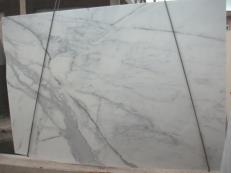 Lieferung polierte Unmaßplatten 3 cm aus Natur Marmor CALACATTA ORO E-O843. Detail Bild Fotos