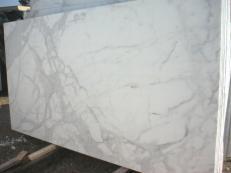 Lieferung polierte Unmaßplatten 2 cm aus Natur Marmor CALACATTA ORO EM_0472. Detail Bild Fotos