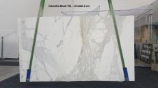 Lieferung polierte Unmaßplatten 2 cm aus Natur Marmor CALACATTA ORO GL 761. Detail Bild Fotos