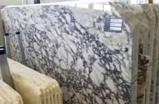 Lieferung polierte Unmaßplatten 2 cm aus Natur Marmor CALACATTA VAGLI ROSATO AA T0400. Detail Bild Fotos