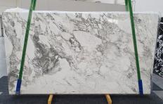 Lieferung polierte Unmaßplatten 2 cm aus Natur Marmor CALACATTA VAGLI 1300. Detail Bild Fotos