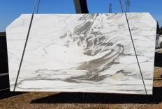 Lieferung gesägte Unmaßplatten 2 cm aus Natur Marmor CALACATTA VAGLI U0434. Detail Bild Fotos