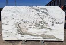 Lieferung polierte Unmaßplatten 2 cm aus Natur Marmor CALACATTA VAGLI U0434. Detail Bild Fotos