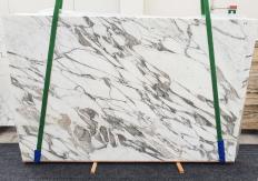 Lieferung polierte Unmaßplatten 2 cm aus Natur Marmor CALACATTA VAGLI 1396. Detail Bild Fotos