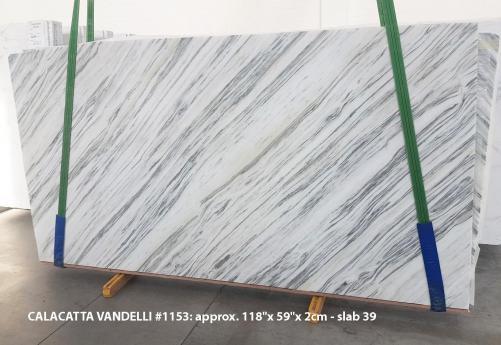 Lieferung polierte Unmaßplatten 2 cm aus Natur Marmor Calacatta Vandelli 1153. Detail Bild Fotos