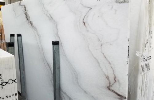 Lieferung polierte Unmaßplatten 2 cm aus Natur Marmor CALACATTA VENDOME 1402M. Detail Bild Fotos