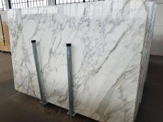 Lieferung polierte Unmaßplatten 2 cm aus Natur Marmor CALACATTA A0256. Detail Bild Fotos