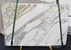 Lieferung polierte Unmaßplatten 3 cm aus Natur Marmor CALACATTA 1344. Detail Bild Fotos