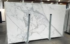 Lieferung polierte Unmaßplatten 2 cm aus Natur Marmor CALACATTA 1426M. Detail Bild Fotos