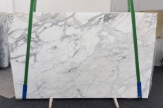 Lieferung polierte Unmaßplatten 2 cm aus Natur Marmor CALACATTA 1188. Detail Bild Fotos