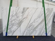 Lieferung polierte Unmaßplatten 2 cm aus Natur Marmor CALACATTA 1228. Detail Bild Fotos