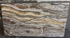 Lieferung polierte Unmaßplatten 2 cm aus Natur Onyx fantasy brown onyx R682. Detail Bild Fotos