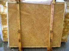 Lieferung polierte Unmaßplatten 2 cm aus Natur Marmor GIALLO NOCE SRC25131. Detail Bild Fotos